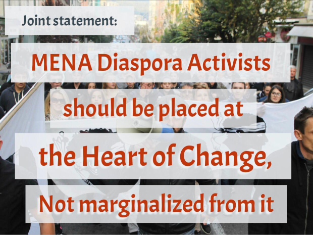 23 Human Rights organizations call for empowering MENA diaspora activists, placing them at the heart of the discourse for change